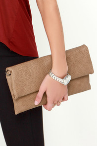 Raise or Fold Brown Clutch at Lulus.com!