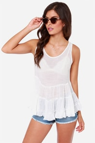 Spacious Skies Ivory Babydoll Top at Lulus.com!
