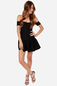 Work Your Magic Off-the-Shoulder Black Dress at Lulus.com!