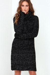Bushel and a Peck Ivory and Black Speckled Sweater Dress at Lulus.com!