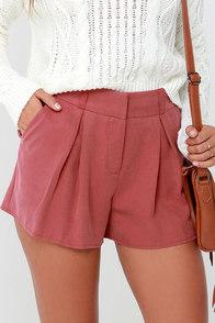 First Class Traveler Rust Red High-Waisted Shorts at Lulus.com!