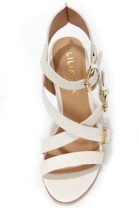 Sage 2 White Buckled High Heel Sandals at Lulus.com!