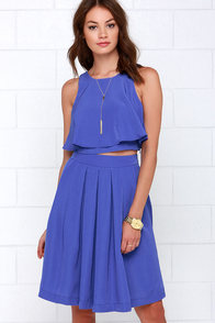 State of Dreaming Blue Two-Piece Midi Dress at Lulus.com!