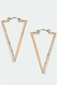Prove a Point Gold Earrings at Lulus.com!