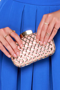 Dependably Divine Gold and Blush Pink Clutch at Lulus.com!