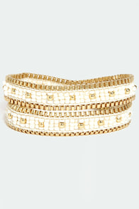 One Chance Beaded Ivory Wrap Bracelet at Lulus.com!