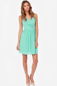 LULUS Exclusive Tuck and Cover Mint Dress at Lulus.com!