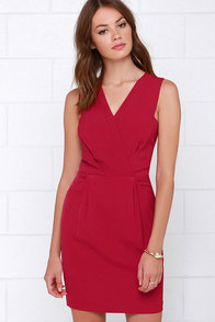 It's a Beautiful Life Wine Red Dress at Lulus.com!