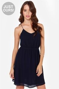 LULUS Exclusive Knot For Love Navy Blue Dress at Lulus.com!