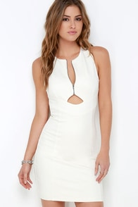 Quite the Catch Ivory Bodycon Dress at Lulus.com!