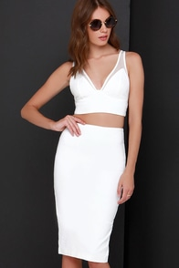 Two To Play Ivory Two-Piece Dress at Lulus.com!