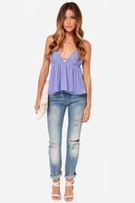 Instant Gratification Periwinkle Tank Top at Lulus.com!