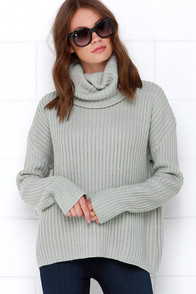 Rise of Dawn You Like Me Too Much Grey Sweater at Lulus.com!