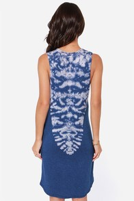 Obey Watchtower Blue Tie-Dye Dress at Lulus.com!