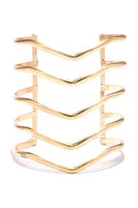 V Formation Gold Bracelet at Lulus.com!