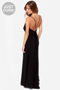 LULUS Exclusive Silent Lagoon Black Maxi Dress at Lulus.com!