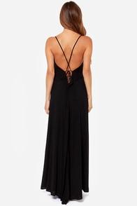 LULUS Exclusive Silent Lagoon Black Maxi Dress at Lulus.com!