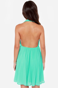 LULUS Exclusive My Marilyn Sea Green Halter Dress at Lulus.com!