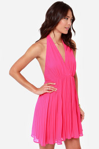 LULUS Exclusive My Marilyn Fuchsia Halter Dress at Lulus.com!