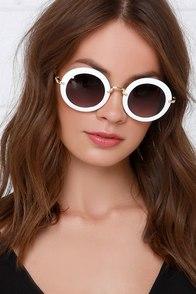 Vanguard Vixen White Sunglasses at Lulus.com!