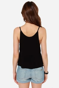 I'm So Lacy Black Tank Top at Lulus.com!