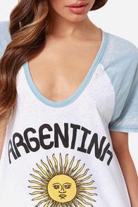 Chaser Argentina Print Burnout Tee at Lulus.com!