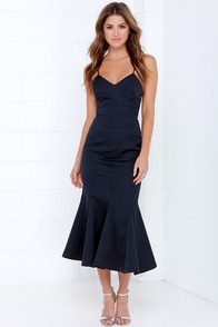 Keepsake Crossed the Line Midnight Blue Dress at Lulus.com!