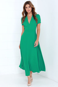Take a Twirl Green Midi Dress at Lulus.com!