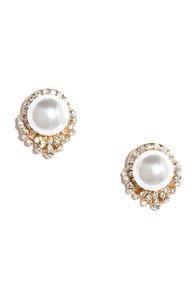 It Takes Two Gold and Pearl Earrings at Lulus.com!