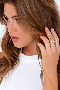 Bionic Woman Gold Cage Ring at Lulus.com!