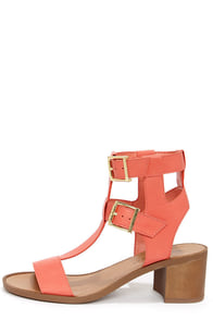 Robin 21 Soft Peach Caged Sandals