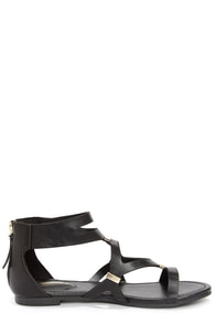 Ruby 31 Black and Gold Gladiator Sandals at Lulus.com!