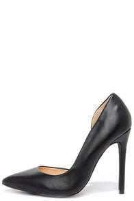 Side Effects Black D'Orsay Pumps at Lulus.com!
