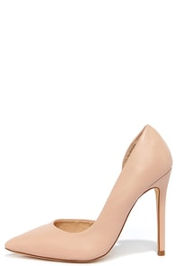 Side Effects Nude D'Orsay Pumps at Lulus.com!