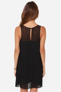 Pleat Street Fair Black Dress at Lulus.com!