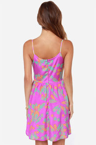 Crash Quartz Purple Print Dress at Lulus.com!