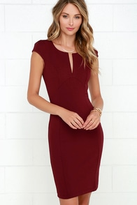 Top Notch Maroon Midi Dress at Lulus.com!