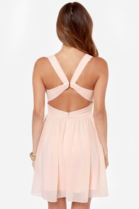 LULUS Exclusive Paths Cross Peach Dress at Lulus.com!