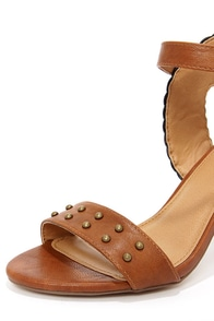 Not Rated Tree Hugger Tan and Black High Heel Sandals at Lulus.com!