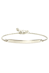Pass the Bar Silver Bracelet at Lulus.com!