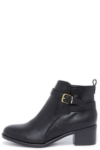 Posh Soul Black Ankle Boots at Lulus.com!