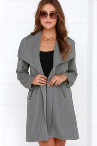 Quite Content Dark Grey Oversized Jacket at Lulus.com!