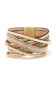Sparkle and Shine Gold Cuff Bracelet at Lulus.com!