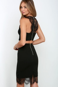 Waltz With Me Black Lace Two-Piece Dress at Lulus.com!