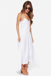 Billabong Sand Kisses Embroidered White Maxi Dress at Lulus.com!