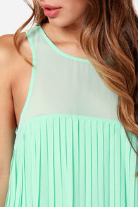 Pleat Street Fair Mint Green Dress at Lulus.com!
