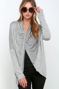 Every Which Way Heather Grey Convertible Sweater at Lulus.com!