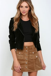Rhythm Pennylane Brown Corduroy Mini Skirt at Lulus.com!