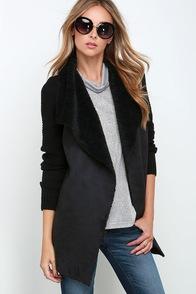 Unforgettable Find Black Sweater Jacket at Lulus.com!