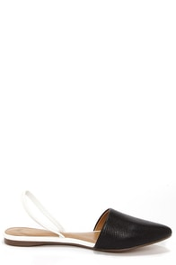 Report Signature Sunburst Black Pointed Flats at Lulus.com!